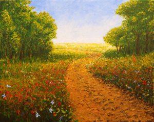 Artwork by Arne Barker Summer Lane to the Farm