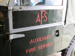 Signwriting Auxiliary Fire Service AFS Land-Rover