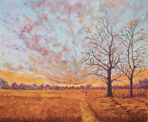 Vermilion Glow - Painting by Arne Barker
