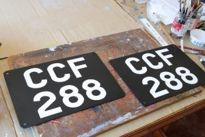 CCF 288 Classic vehicle number plates