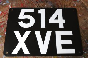 Hand-painted number-plate completed