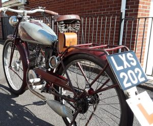 New-Map 1935 motorcycle with period number-plate