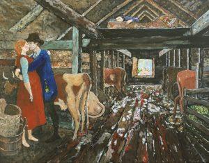 Barn courtship