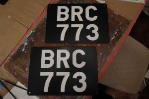 BRC 773 show plates