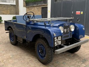 """SJO Blue Land-Rover Series 1 80"""" with hand painted plates"""