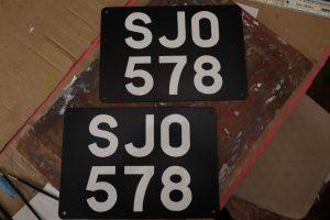 SJO signwritten plates